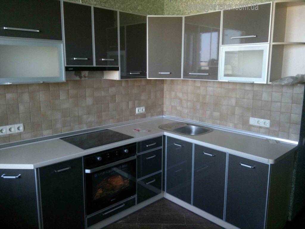 Кухня цвет графитный