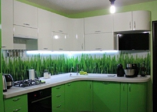 Мебель зеленая трава