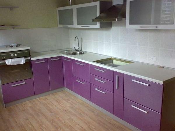 Кухня в фиолетовых тонах ЛНР