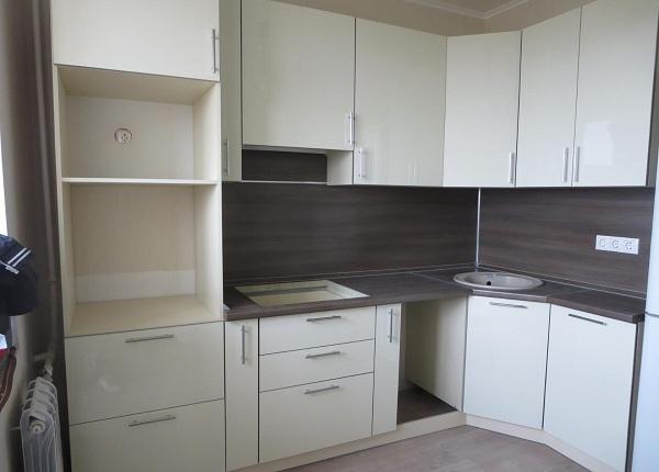 Светло белая кухня ЛНР