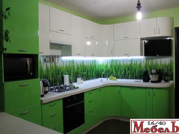 Зеленая кухня мебель цена