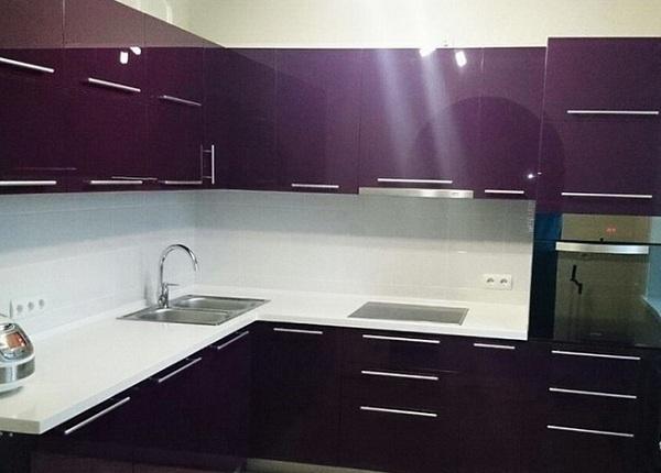 Кухня темно фиолетовая ЛНР