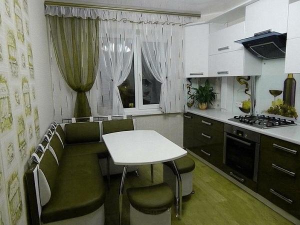 Вся зеленая кухня