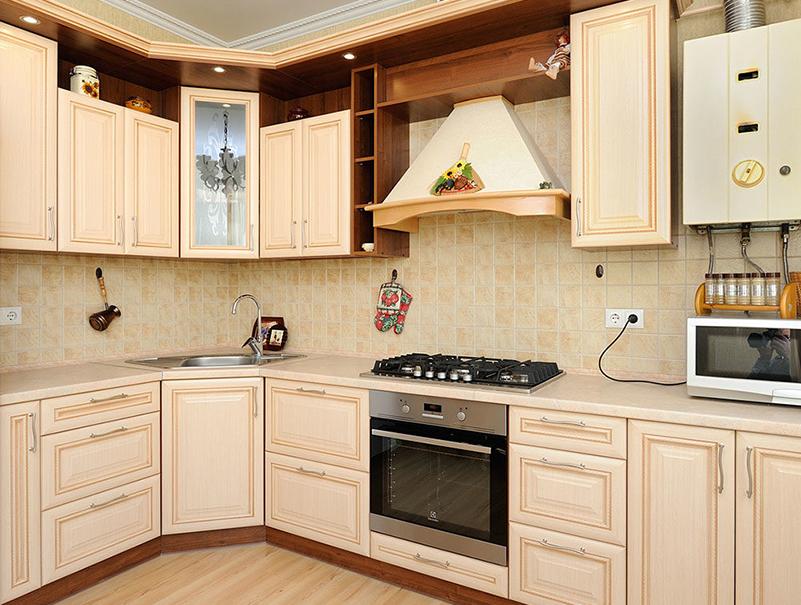 Кухня из белого МДФ